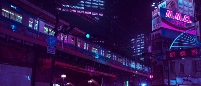 Neon train.