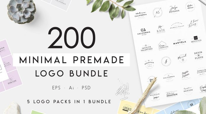 200 minimalist logo templates