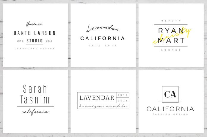 200 minimalist logo templates.