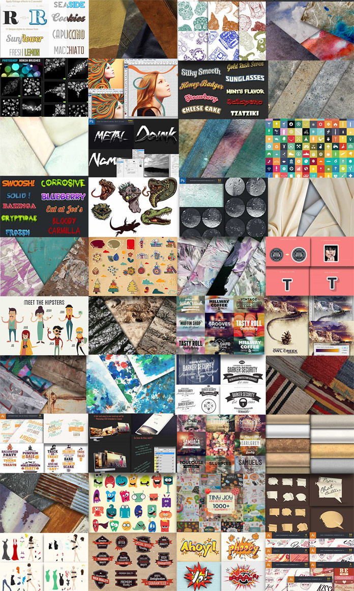 The Pixelo Mighty Design Bundle includes over 4000 products for graphic designers.