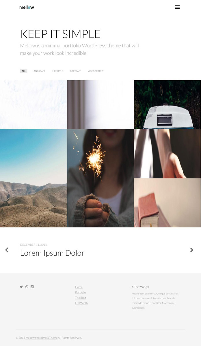 Mellow WordPress theme