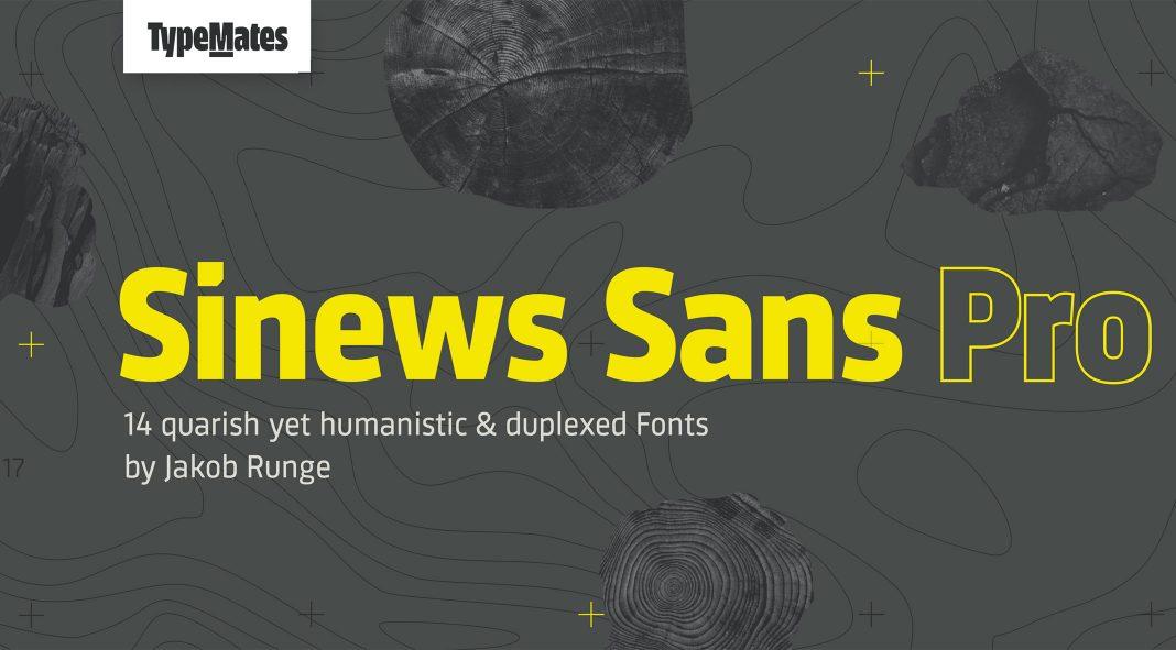 Sinews Sans Pro font family by TypeMates.