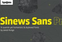 Sinews Sans Pro font family by TypeMates.