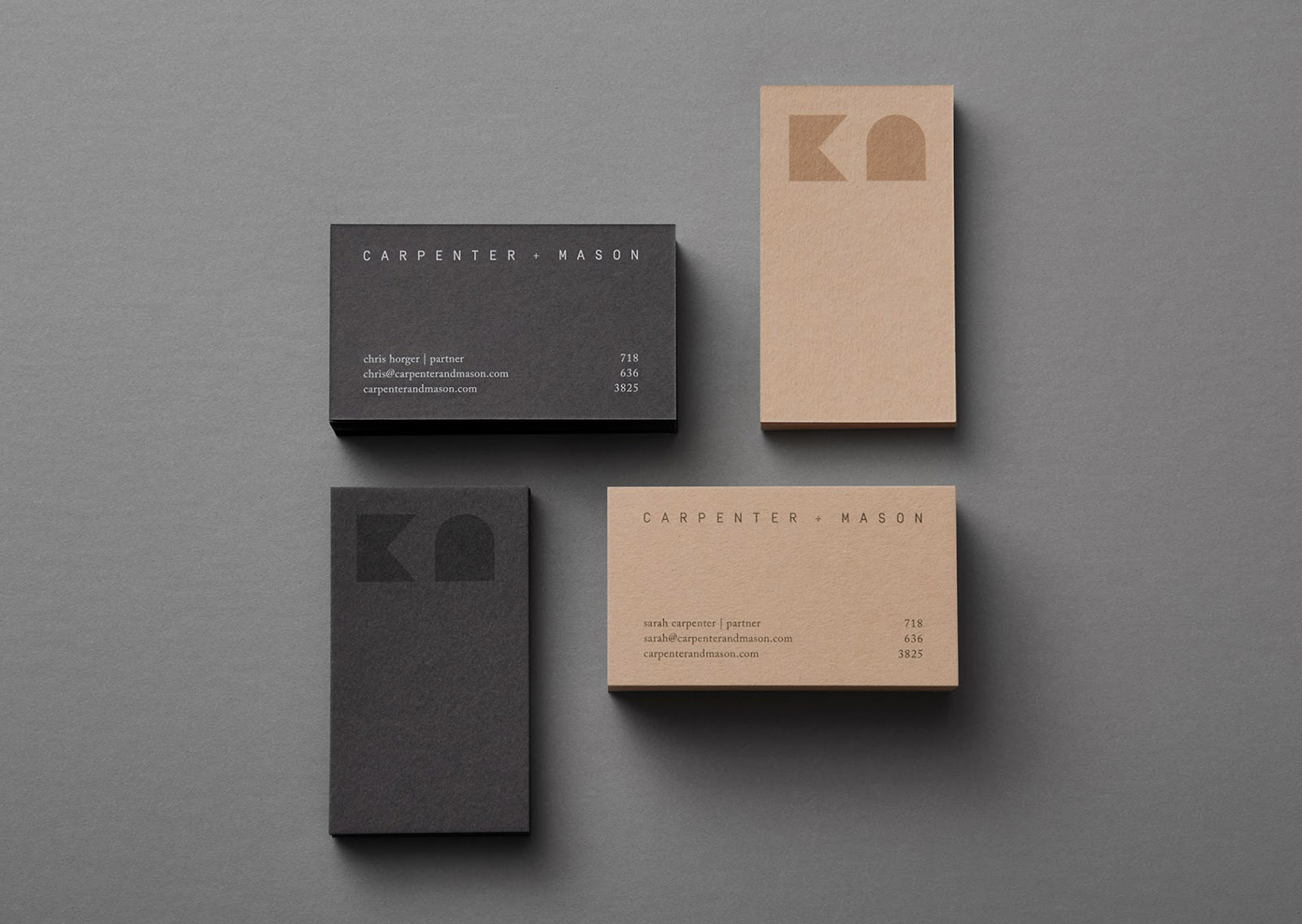 CARPENTER + MASON Branding by LMNOP
