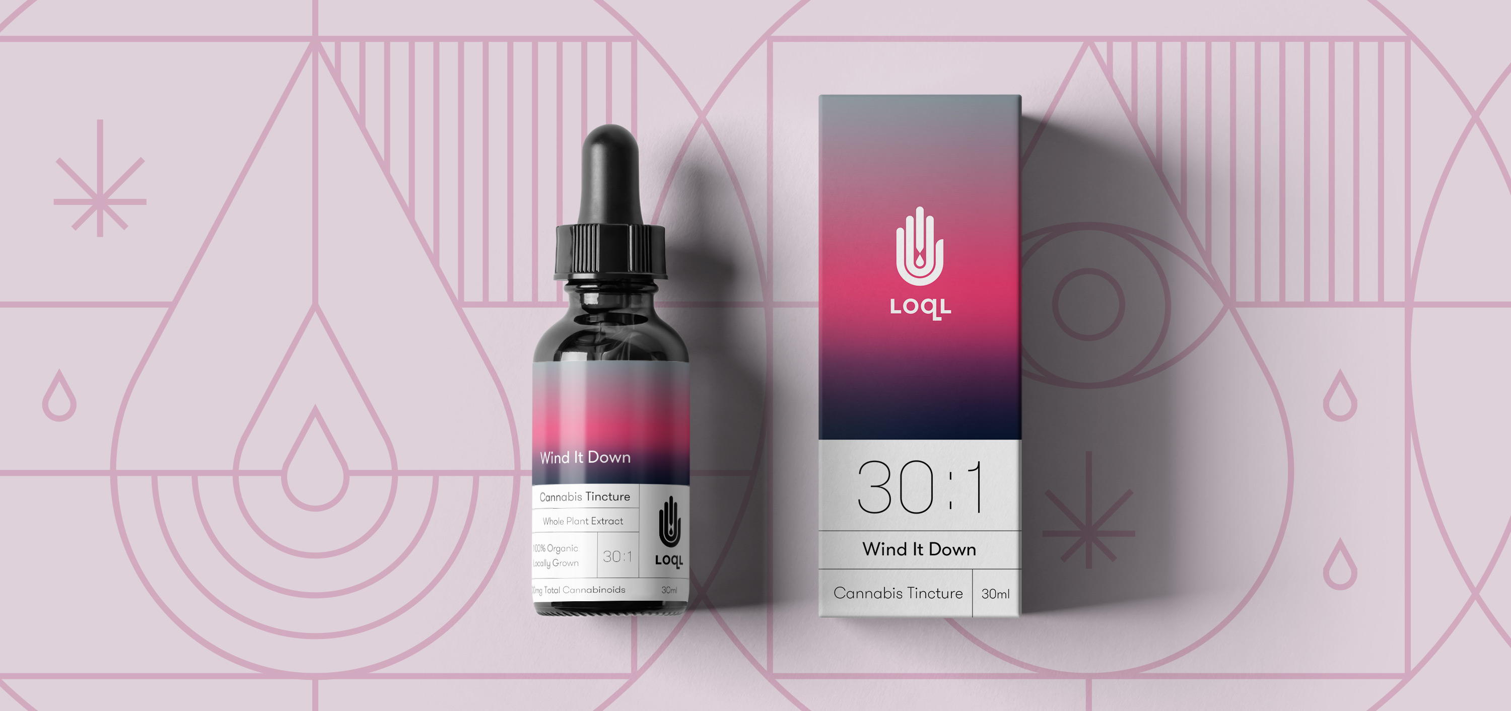 LOQL cannabis concentrates brand identity and packaging by TRÜF.