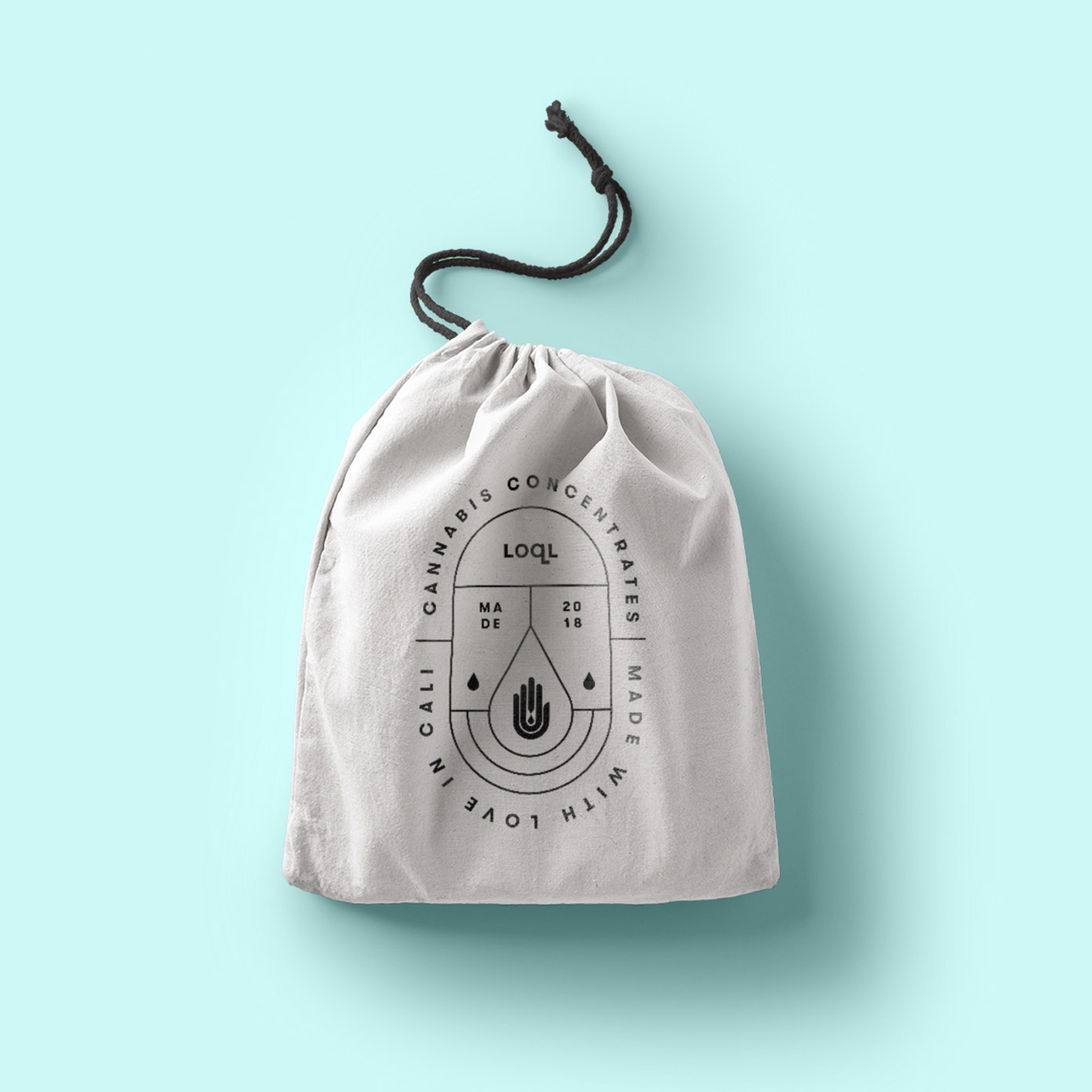 LOQL Canvas bag emblem