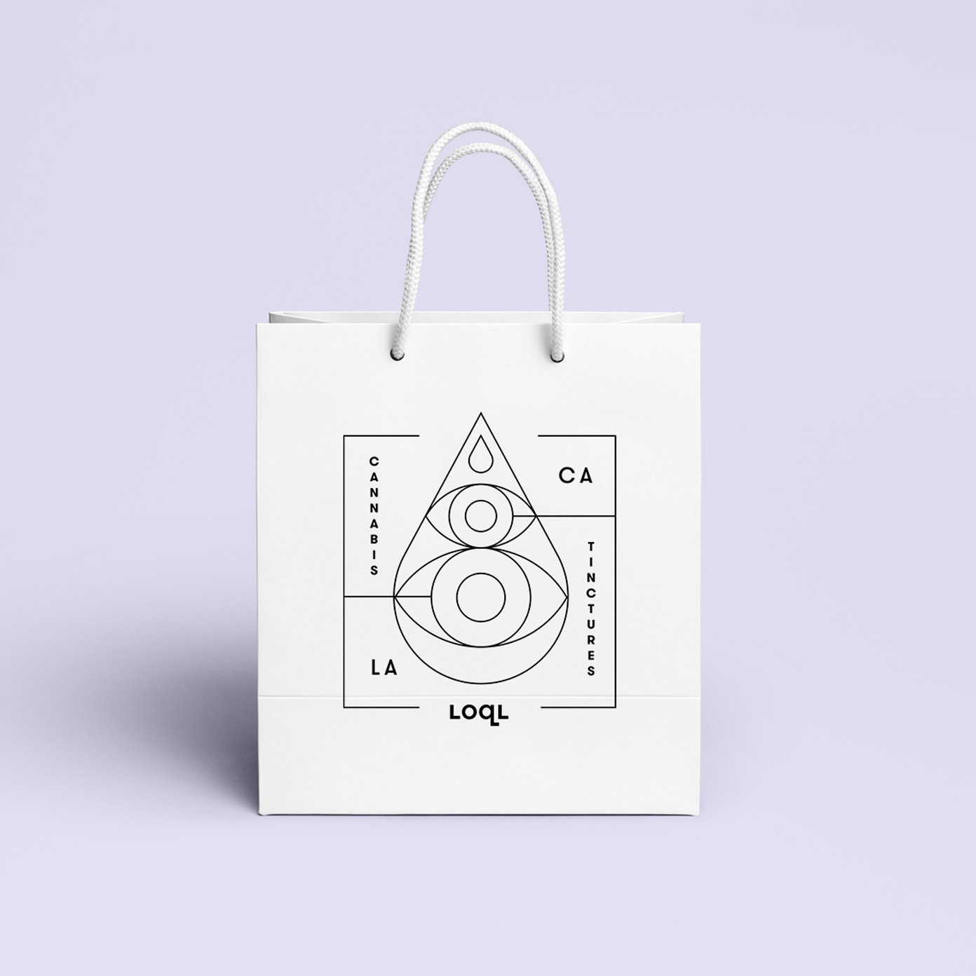 LOQL shopping bag illustration.