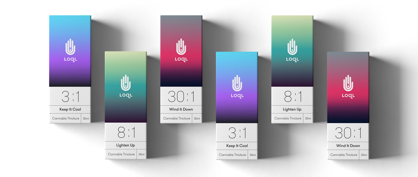 LOQL Cannabis tinctures packaging design