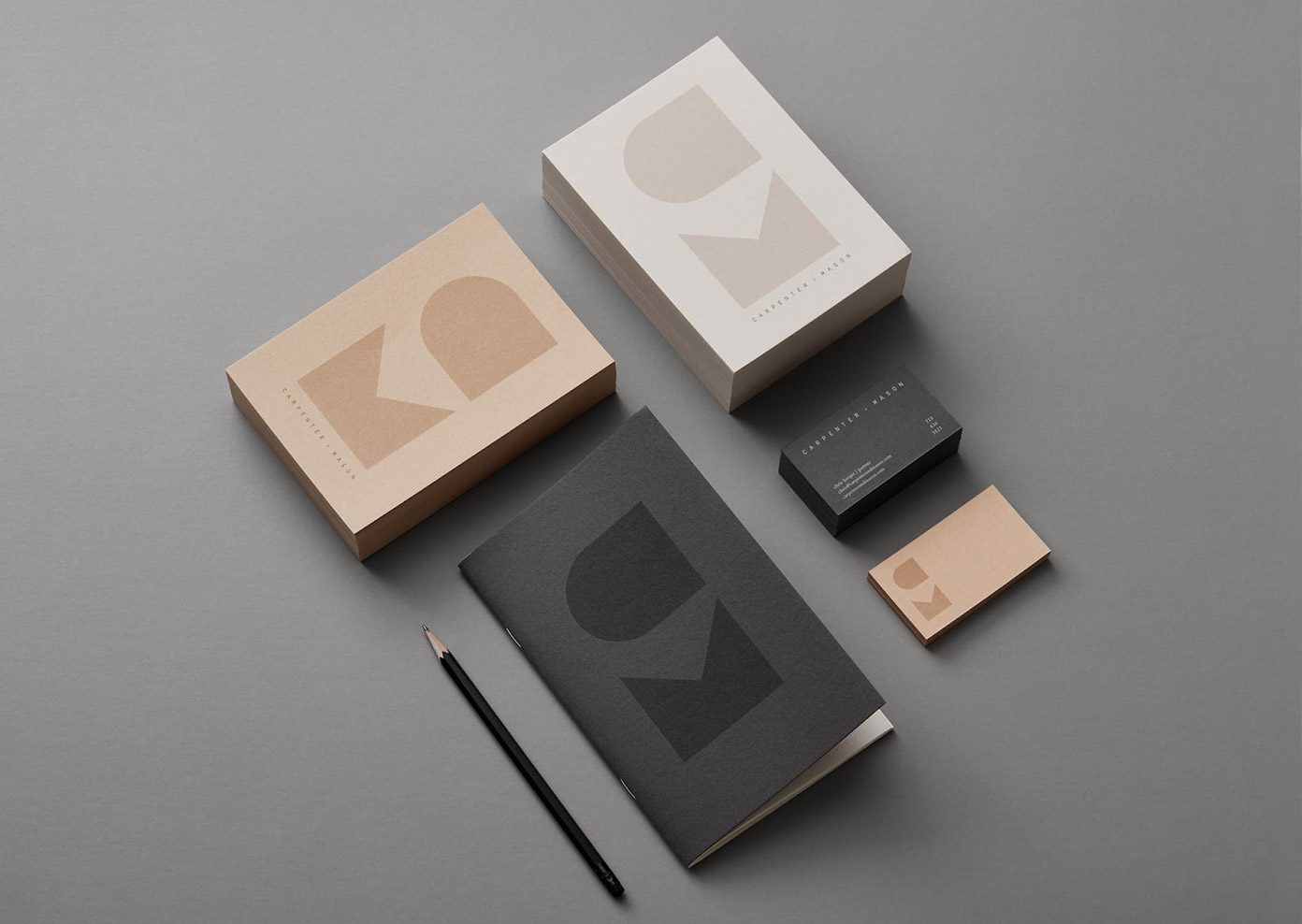 CARPENTER + MASON brand identity by LMNOP Creative.