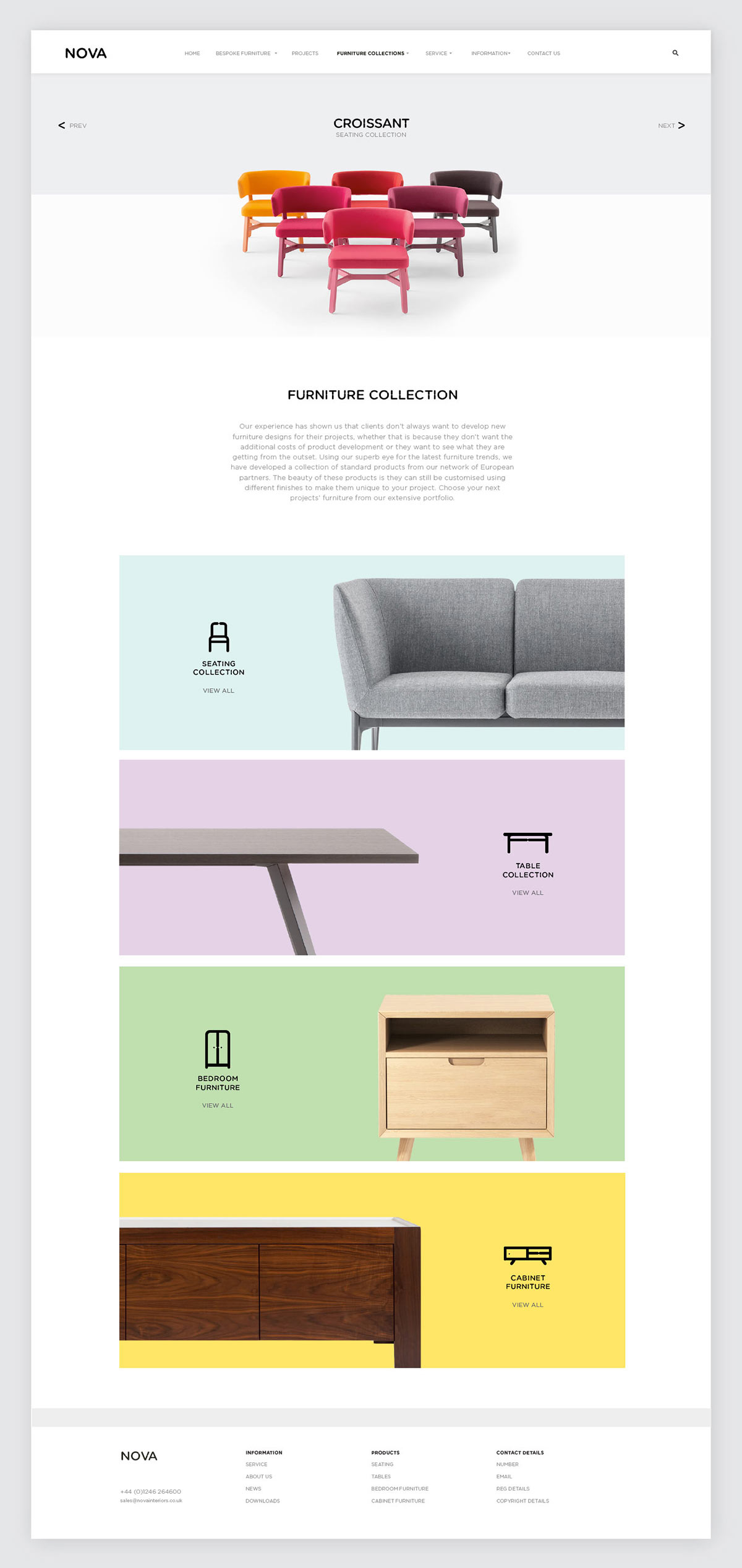 Nova Interiors branding by Side by Side.