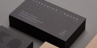 CARPENTER + MASON brand identity by LMNOP Creative.