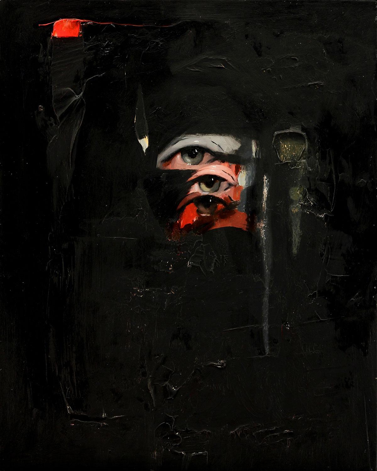Emilio Villalba, Mirrors, 8x10, oil on Wood, 2017