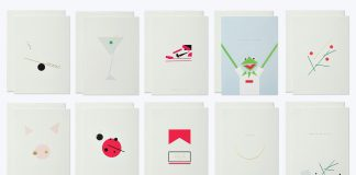 Minimalistic greeting cards by thie studios