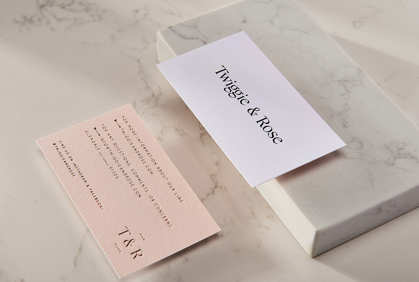 Twiggie & Rose skincare branding by Menta