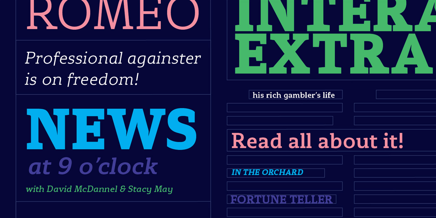 Stropha fonts from Tour de Force Font Foundry