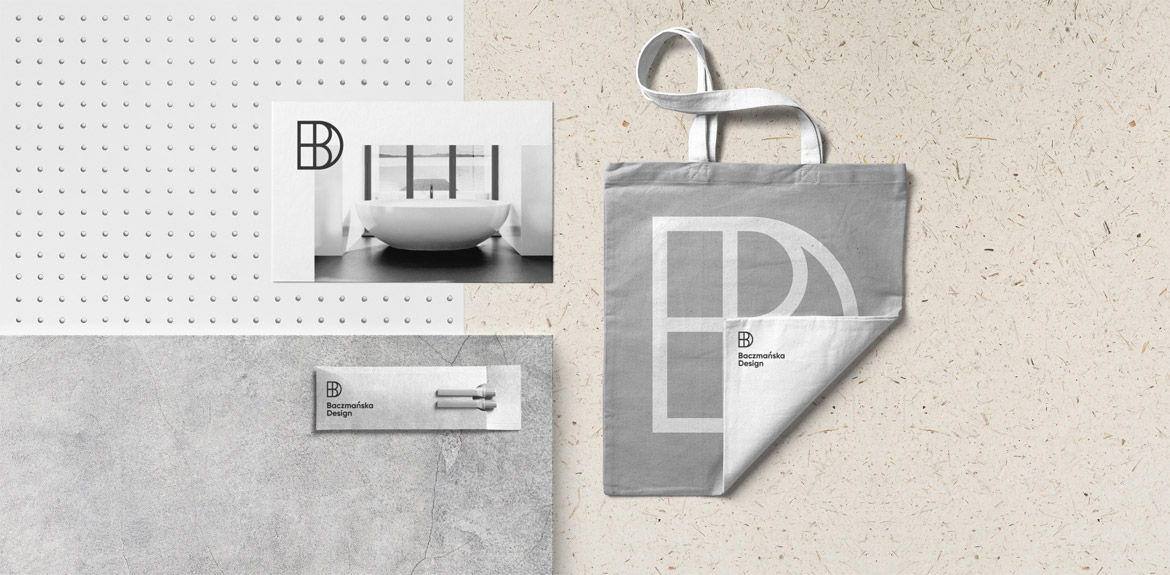 Corporate identity for Baczmańska Design created by Fromsquare Studio.
