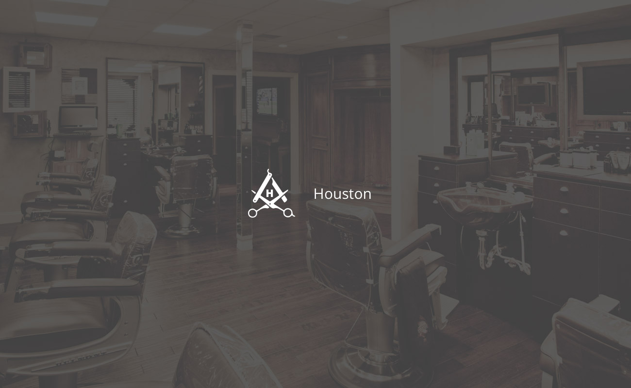 Houston Barbershop branding by graphic designer Hoo