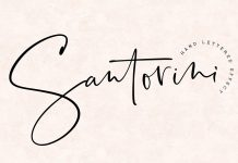 Santorini script font