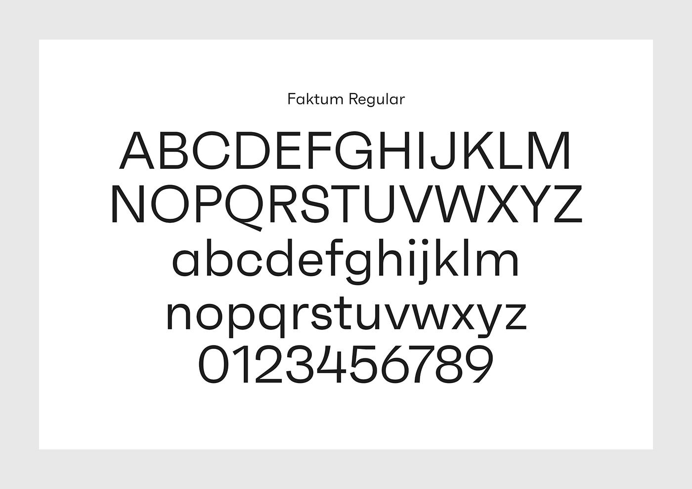 Faktum font family by René Bieder.