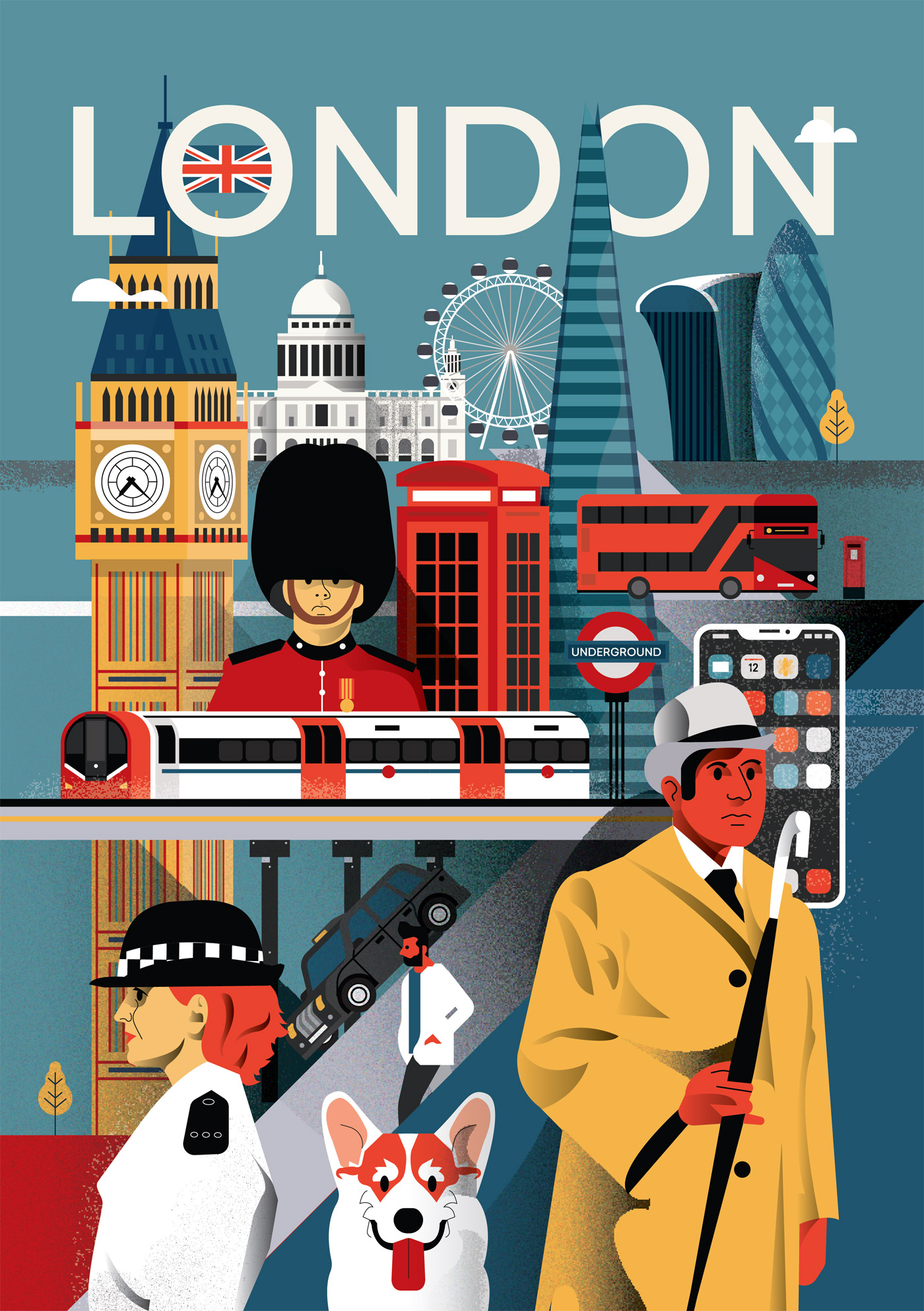 London city poster by Arunas Kacinskas.