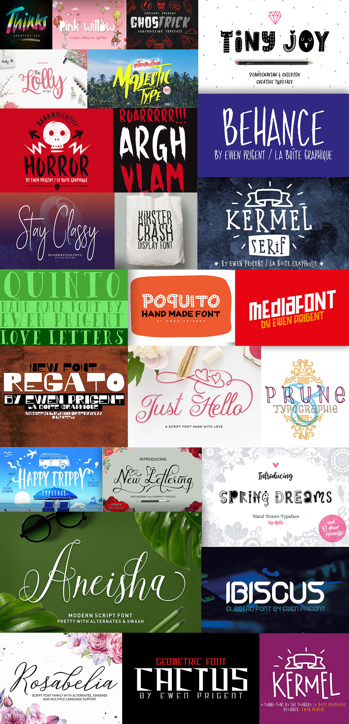 Decorative fonts for the holiday season.