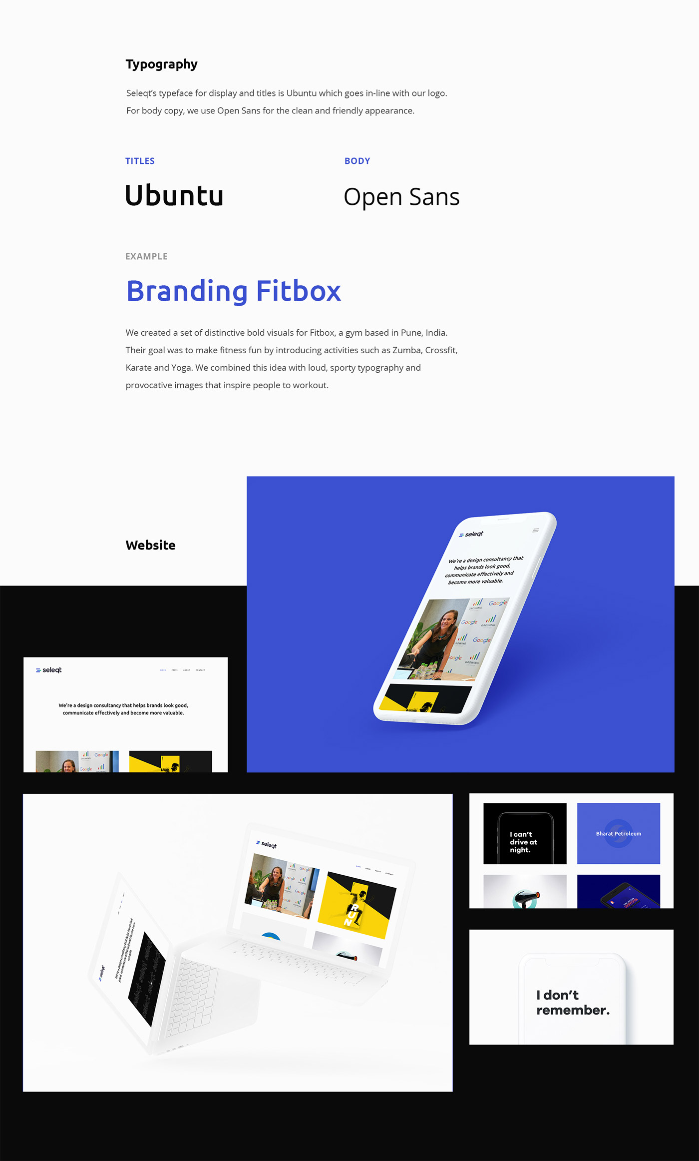 Seleqt Design - personal branding by Rigved Sathe.