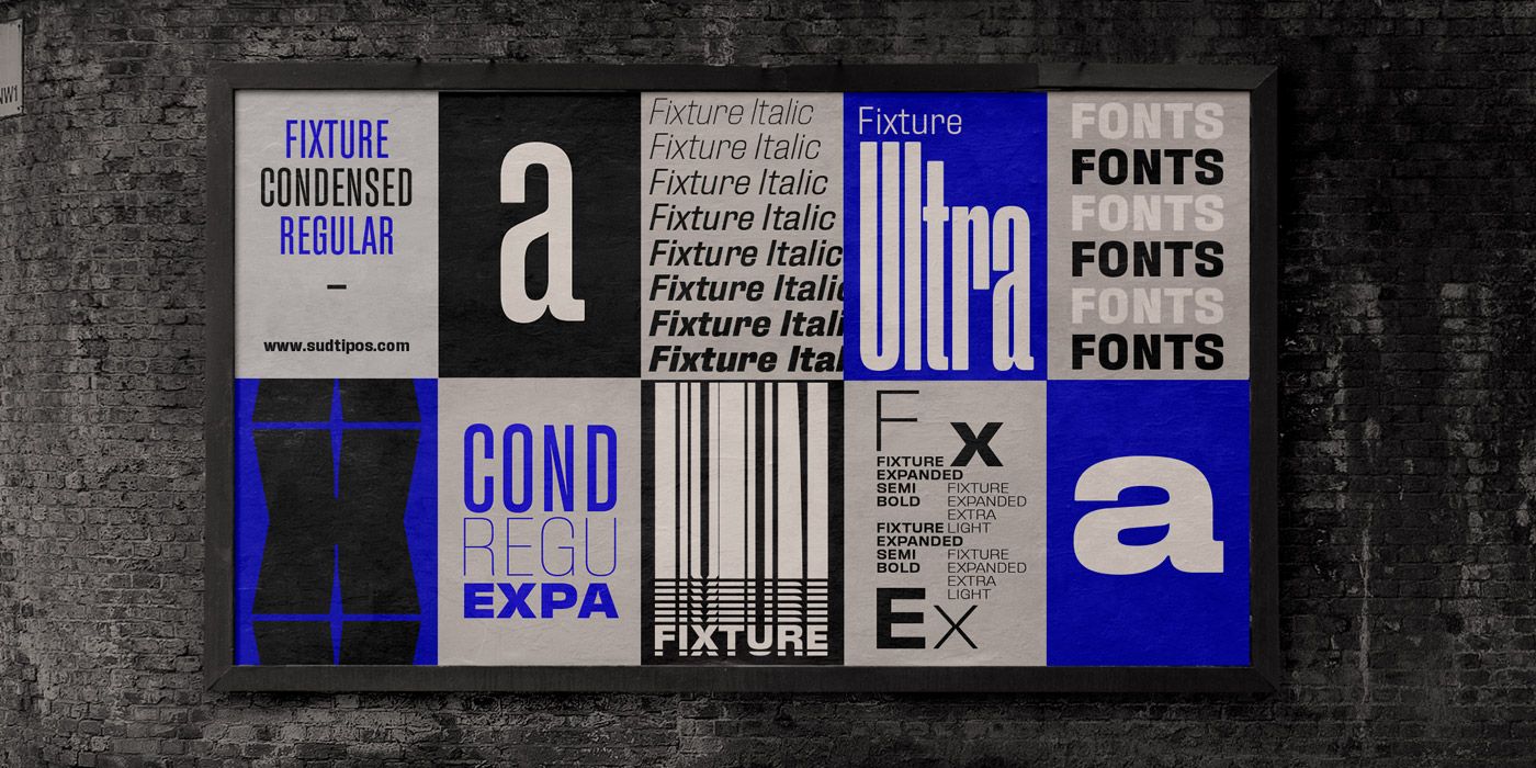 Fixture font family from Sudtipos.