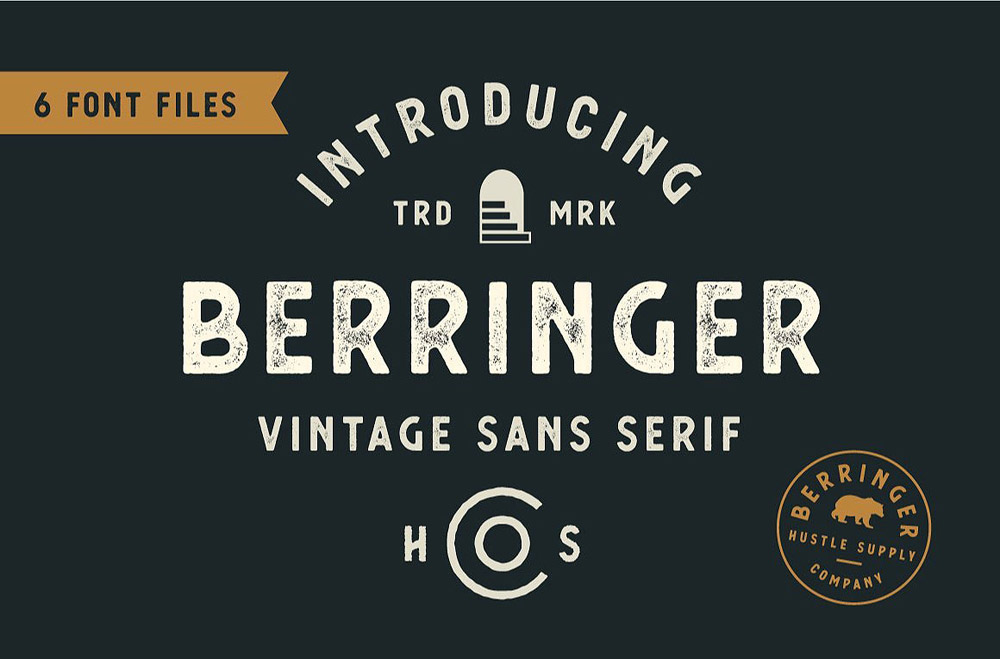 53 Vintage Fonts from HUSTLE SUPPLY CO.