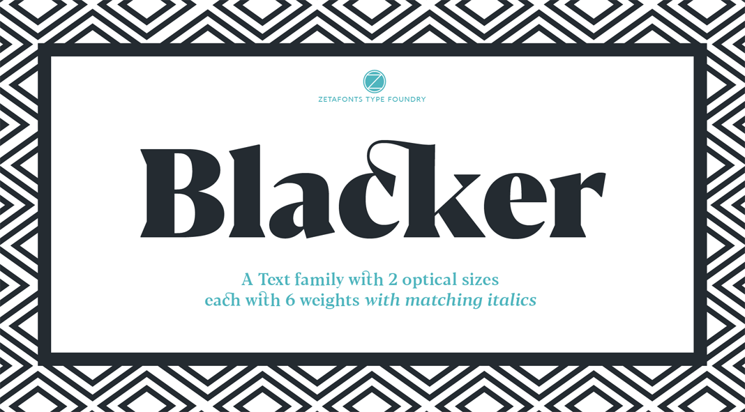 Blacker Font Family with 2 Free Fonts