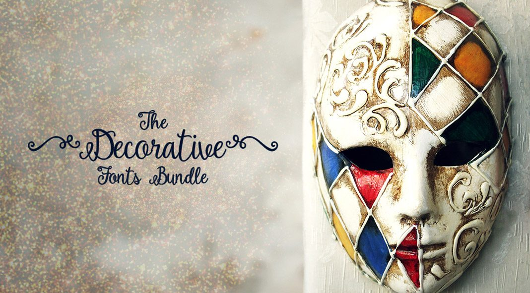 Decorative fonts bundle for the holiday season