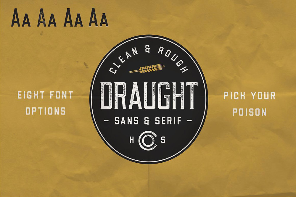 Draught font