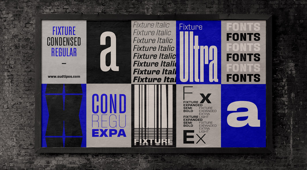 Fixture Font Family from Sudtipos