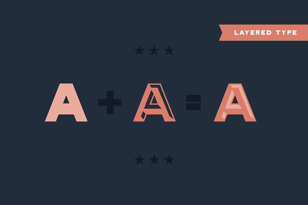 Layered type
