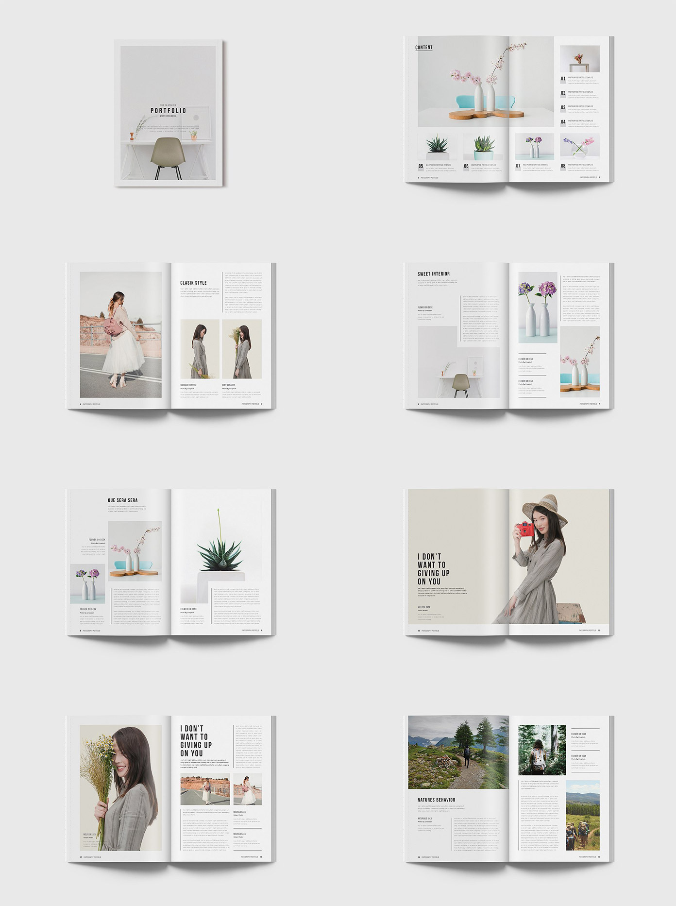 Portfolio Magazine template - overview