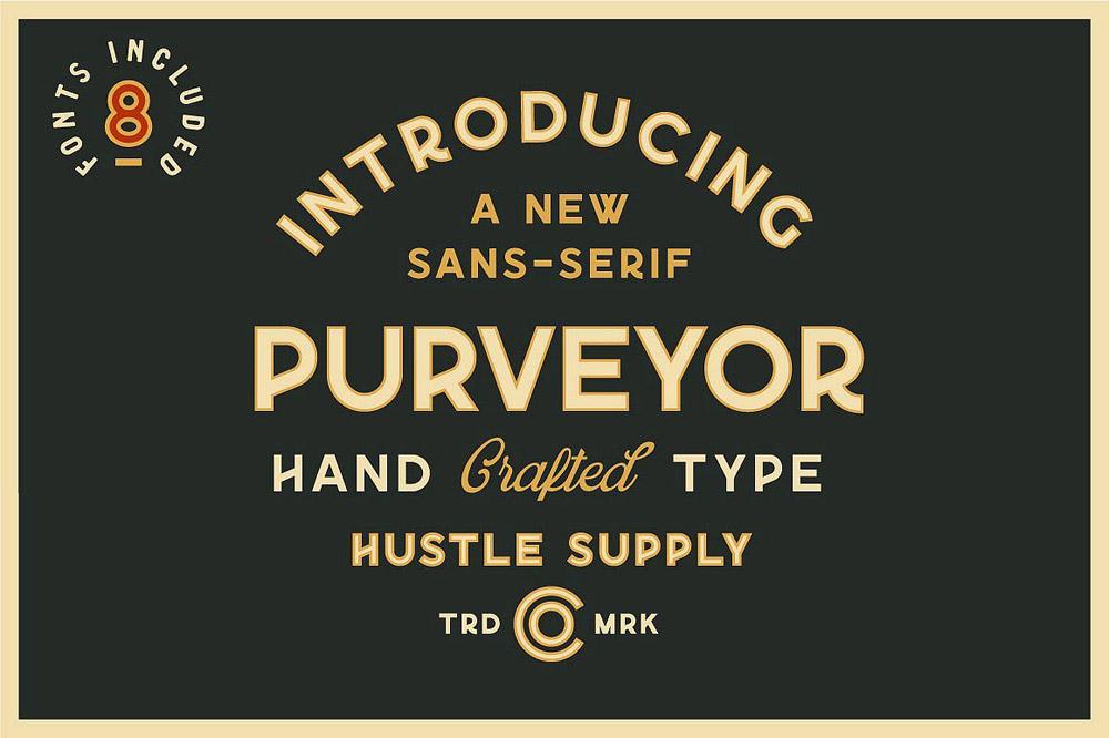 Purveyor font
