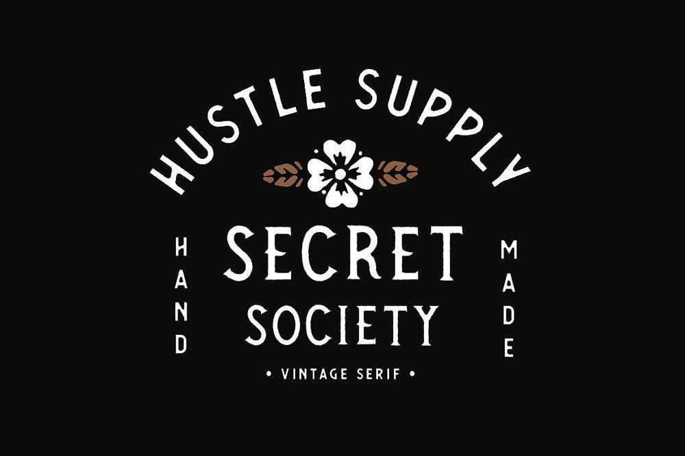 Secret society typeface