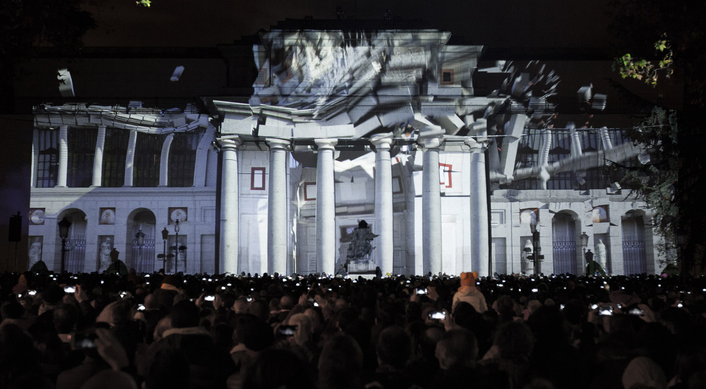 Construction - Prado Museum's Bicentenary - 3D Projection Mapping by Onionlab