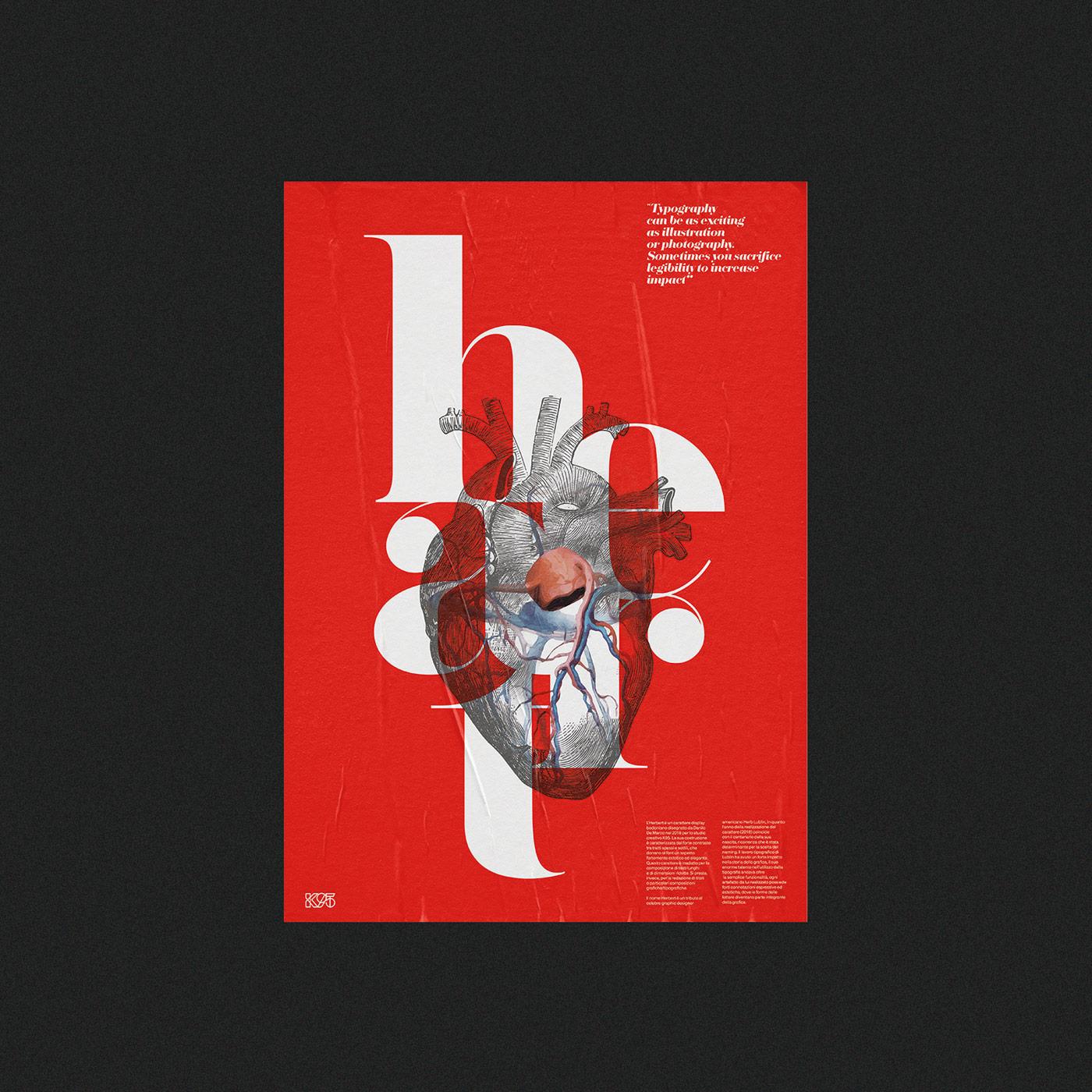 Herbert Typeface: Promotional Posters by Studio K95