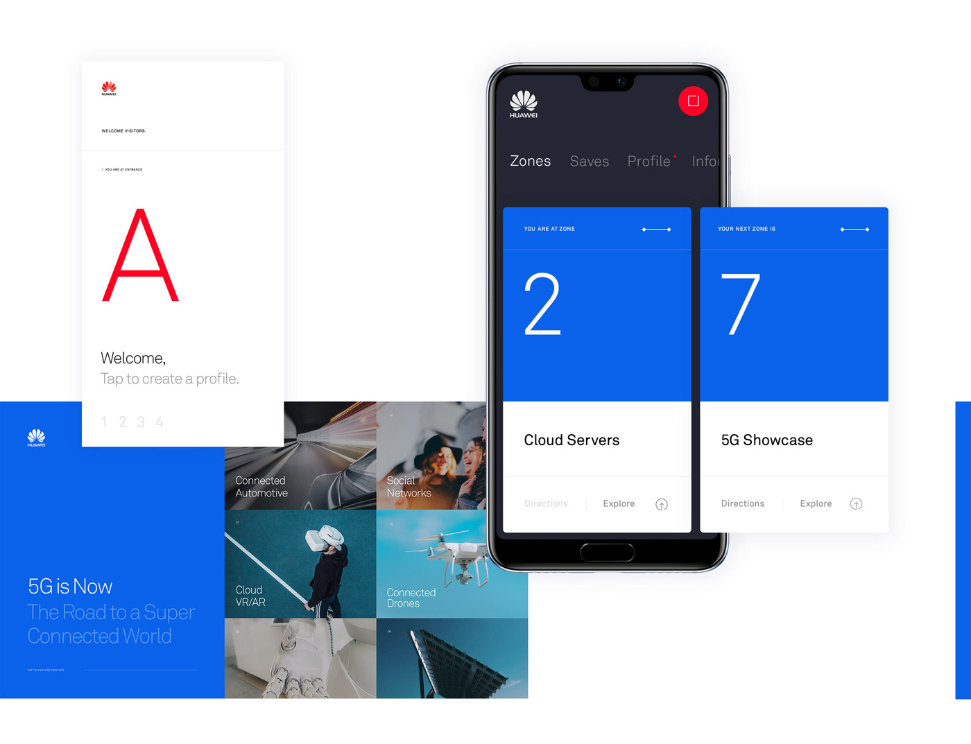 Huawei Exhibition UI Design Doncept by Marcus Brown