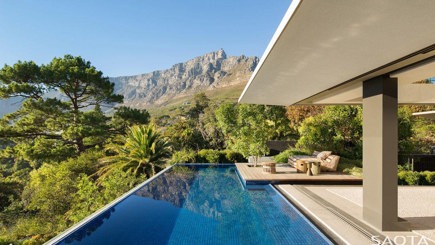 Kloof 119A, a Cape Town family home by SAOTA with an inverted pyramid roof.