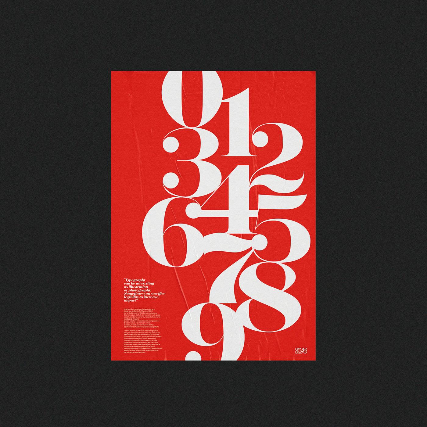 Herbert typeface - promotional posters by Studio K95