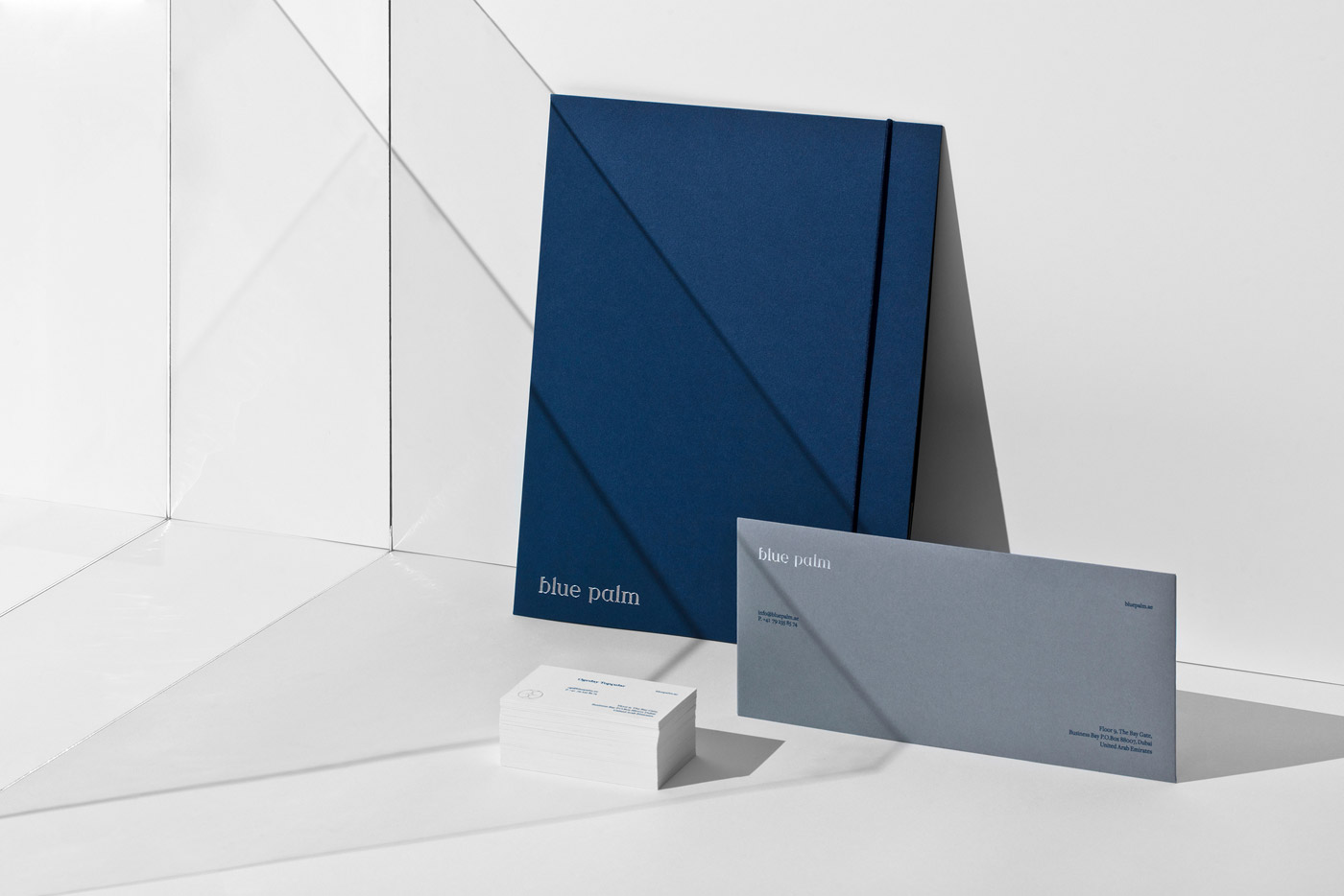 Graphic design and branding by Sabbath Studio for financial company Blue Palm.