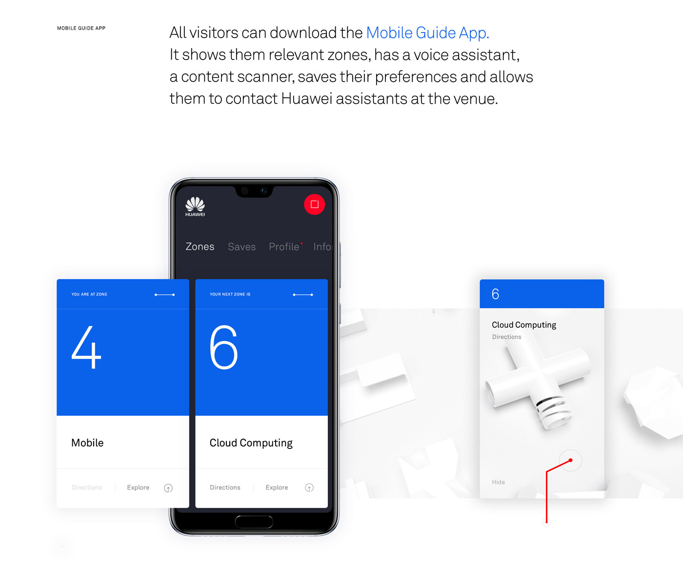 Huawei Exhibition UI design concept by Marcus Brown.