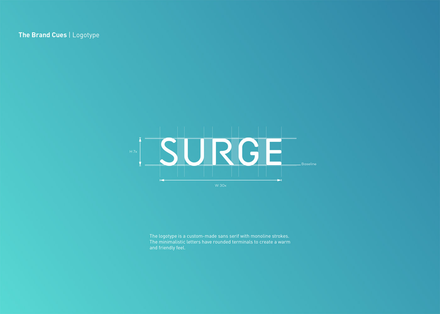 SURGE logo design and branding by Maria Grønlund