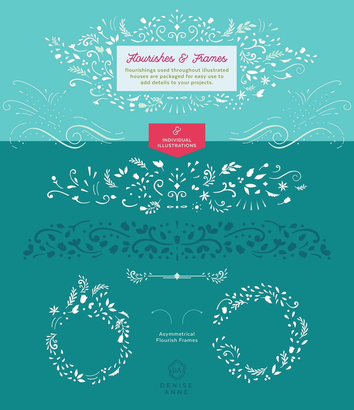 Decorative flourishes and frames
