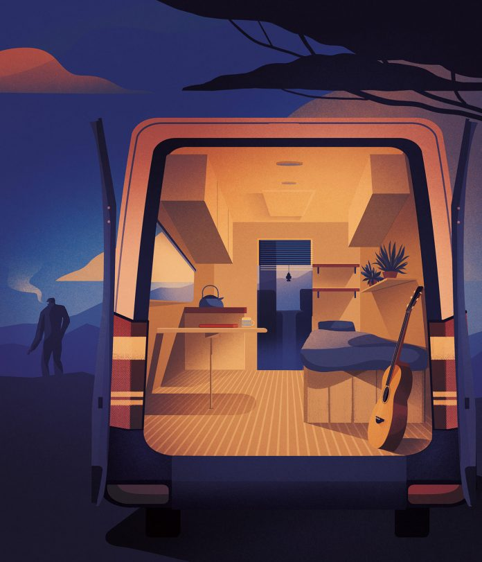 Transport and travel illustrations from 2018 by Charlie Davis