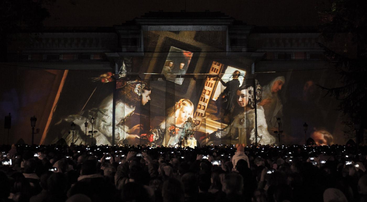 Meninas - Prado Museum's Bicentenary - 3D Projection Mapping by Onionlab