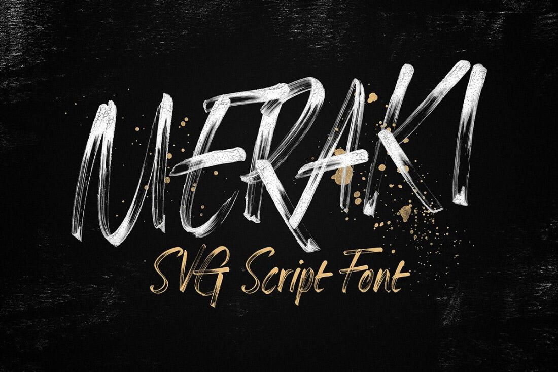 Meraki SVG font