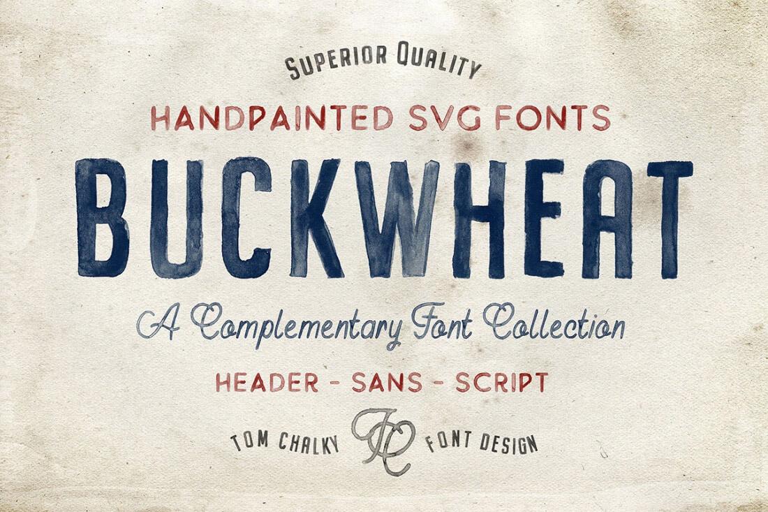 Buckwheat SVG font