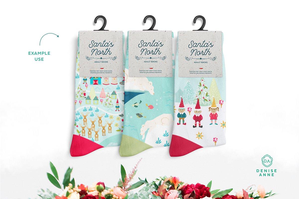 Christmas illustrations example of use - socks